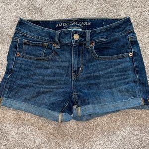 American Eagle 4 Jean shorts denim women's midi